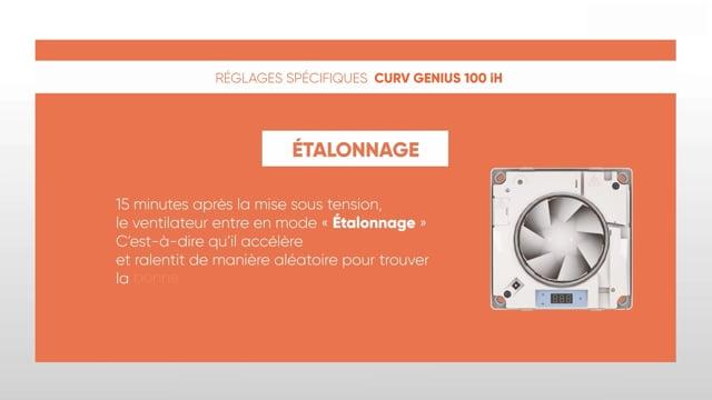 564190541 CURV Genius 100iH - Réglages