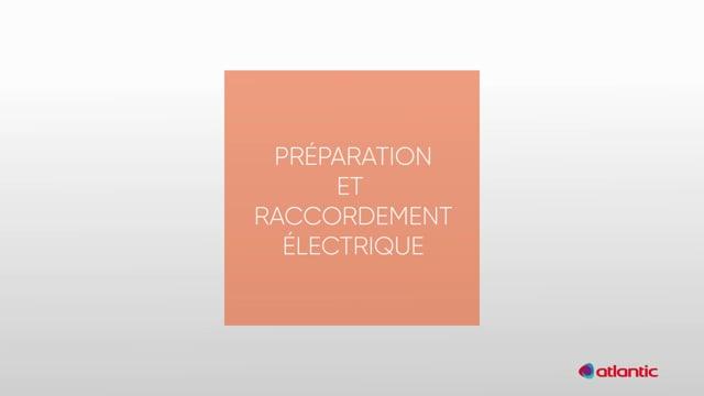 564217238 CURV Confort 120I - Préparation & raccordement électrique