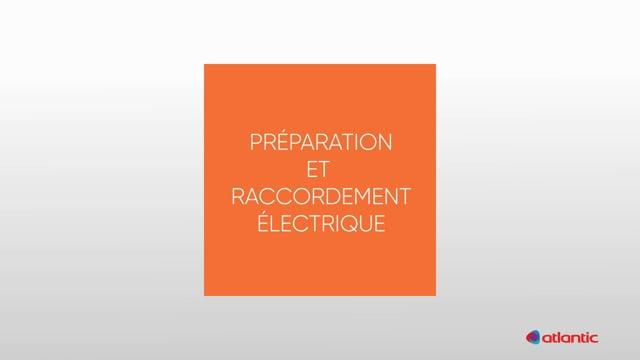 564217185 CURV Confort 100PIR - Préparation & raccordement électrique