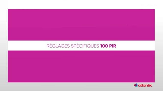 564536575 CURV Flash 100PIR - Réglages
