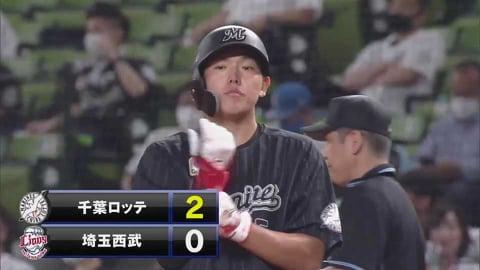 【4回表】マリーンズ・安田 追加点となる鋭い打球のタイムリーヒット!! 2021/6/18 L-M