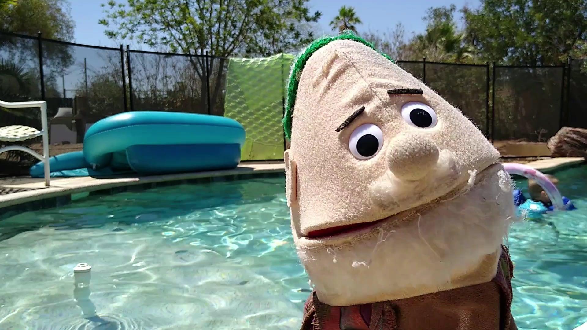 Ezra Goes for a Swim!