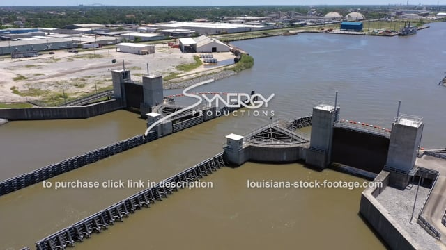 2811 New Orleans flood protection Seabrook Floodgate industrial canal