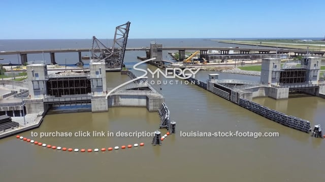 2806 New Orleans Seabrook Floodgate Complex industrial canal