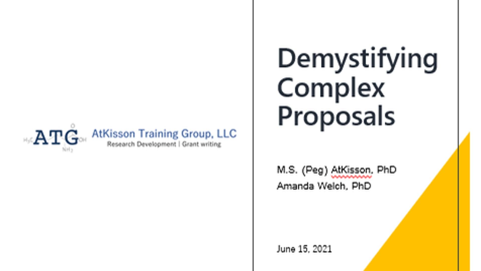 Demystifying Complex Proposals