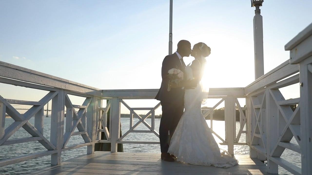 Jasmin & Rowen's fairy tale wedding at Marina Del Rey in the Bronx, NY