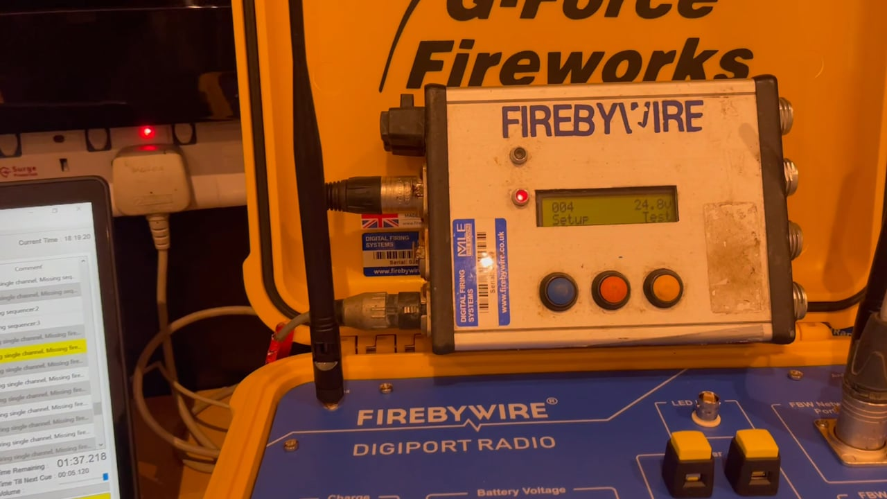 Testing our latest state of the art Digital Radio Firing System