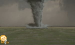 They HAD to find an active tornado to make this proposal happen!