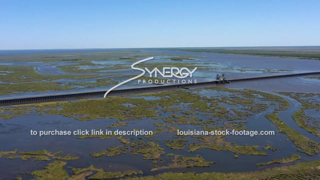 2824 Dramatic land loss aerial New Orleans Louisiana storm surge protection