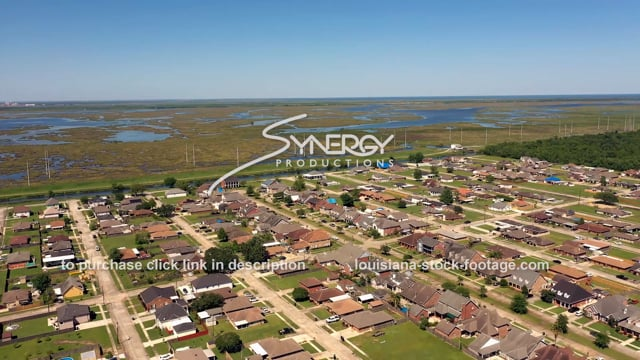 2816 suburban New Orleans neighborhood coastal erosion