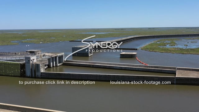 2848 Aerial hurricane storm surge protection New Orleans