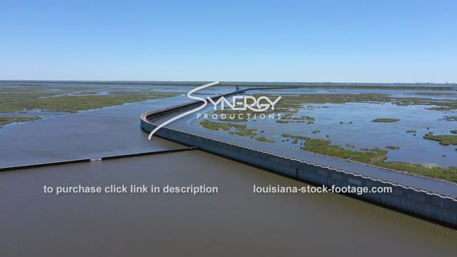 2840 Nice aerial New Orleans hurricane flood protection system