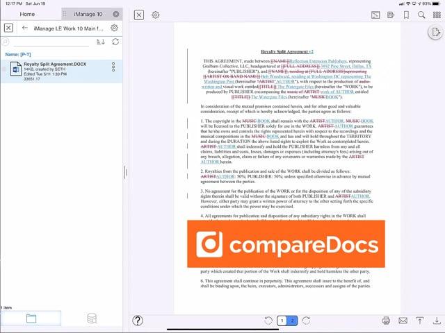 LINK App: Compare Versions compareDocs 16 seconds (No Audio)