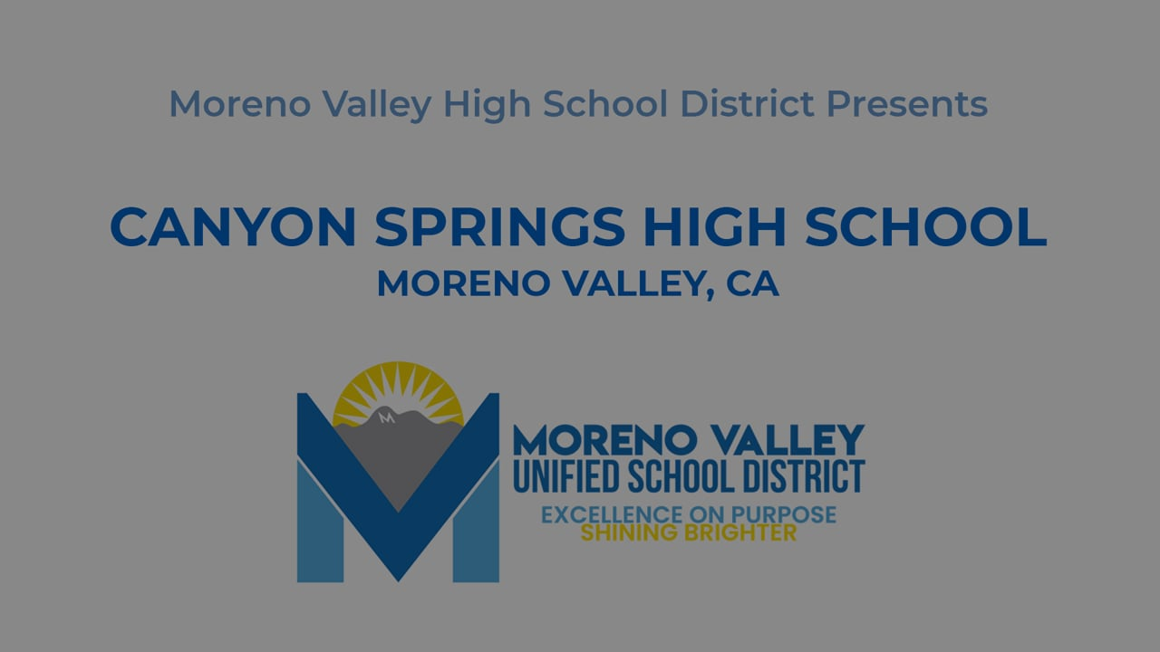 2021 Canyon Springs High School AM Graduation Commencement MVUSD Moreno Valley Riverside County