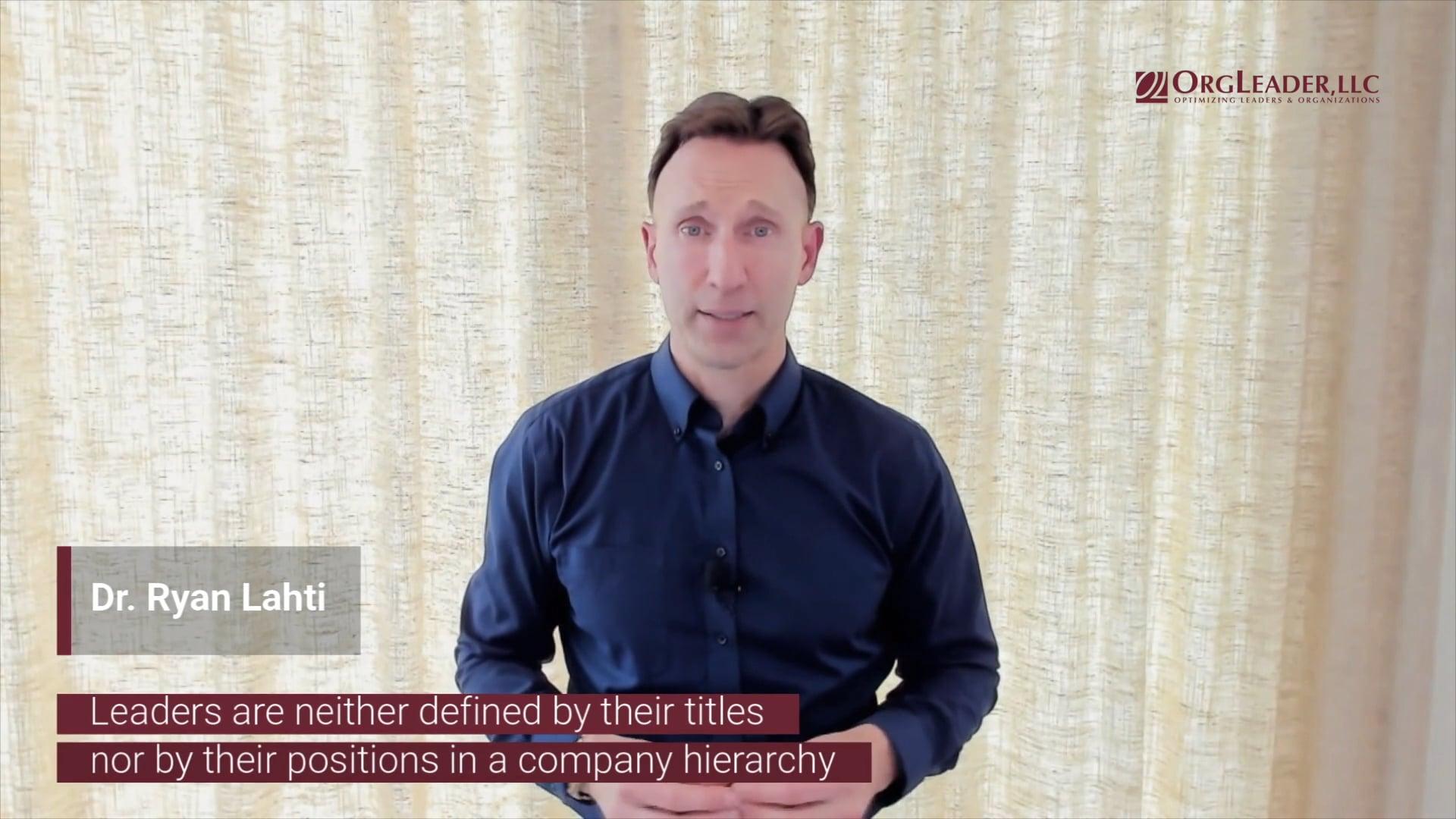 Ryan Lahti - Defining Leadership