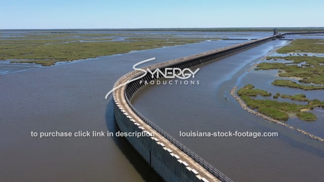 2836 Epic drone aerial IHNC Lake Borgne Surge barrier New Orleans
