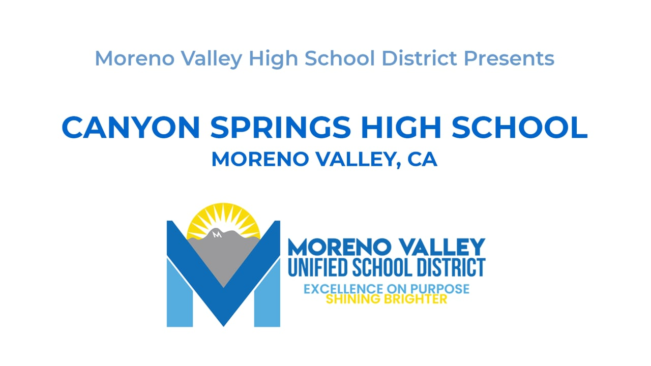 2021 Canyon Springs High School PM Graduation Commencement MVUSD Moreno Valley Riverside County