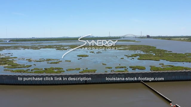 2849 hurricane storm surge protection New Orleans in distance