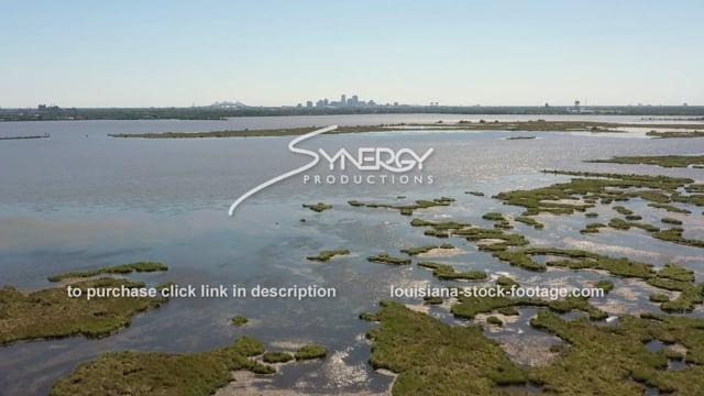 2856 Epic aerial New Orleans land loss coastal erosion