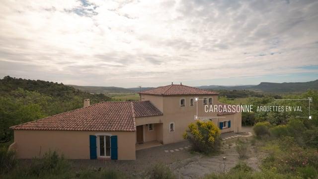 CARCASSONNE - ARQUETTES EN VAL - VILLA T6 345m² AVEC TERRAIN DE 5450m²   350.000€