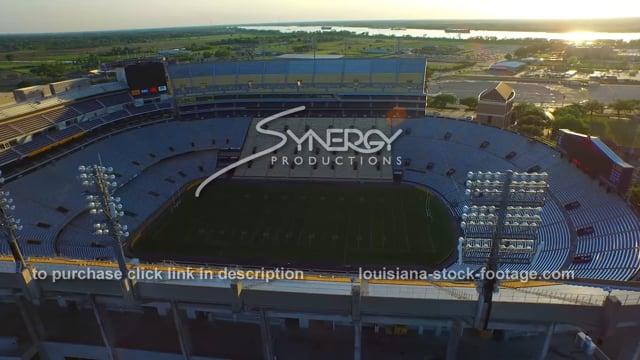 2859 aerial Baton Rouge Louisiana Tiger Stadium LSU