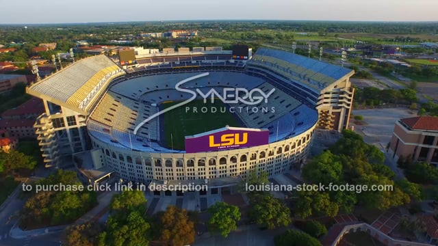 2861 aerial LSU Tiger Stadium Baton Rouge
