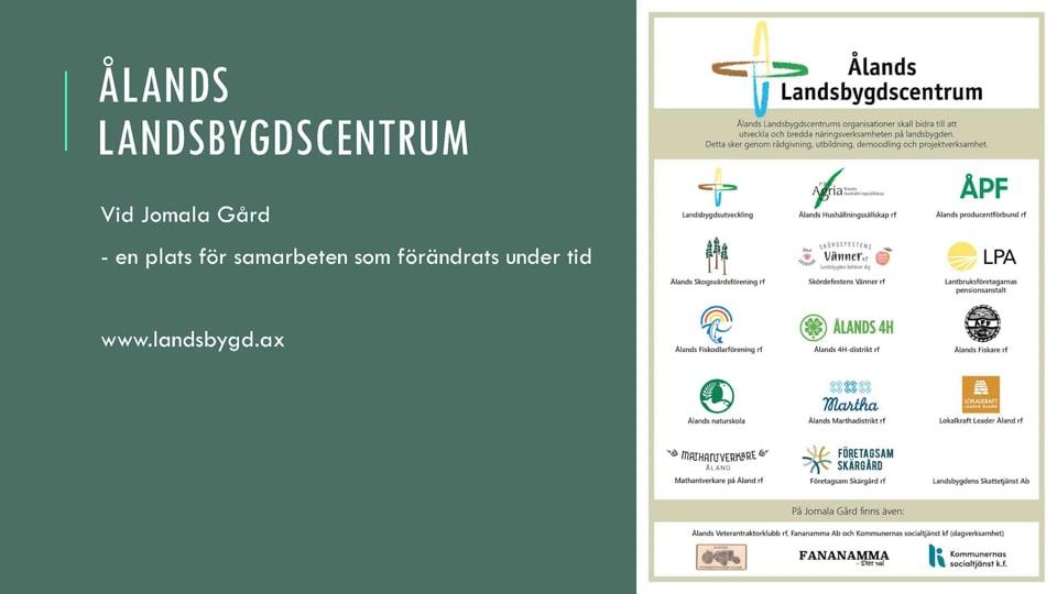 Presentation av Ålands Landsbygdscentrum och Leader Åland