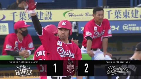 【1回裏】マリーンズ・レアード 勝ち越しのタイムリーヒット!! 2021/6/24 M-H