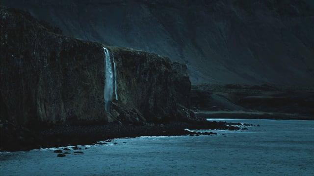 The Night Beauty of Icelandic Coastline. Nighttime video. Part - 5
