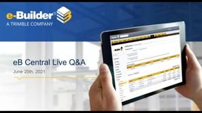eB Central Live - Q&A Session 06/25/21