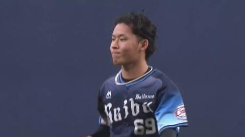 【6回裏】ライオンズ・水上 打者3人できっちり抑えるナイスリリーフ!!  2021/6/27 B-L