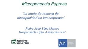 Micropíldora express - La cuota de reserva de  discapacidad en las empresas