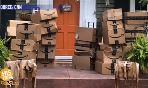 She got 150 Amazon packages she didn't order!