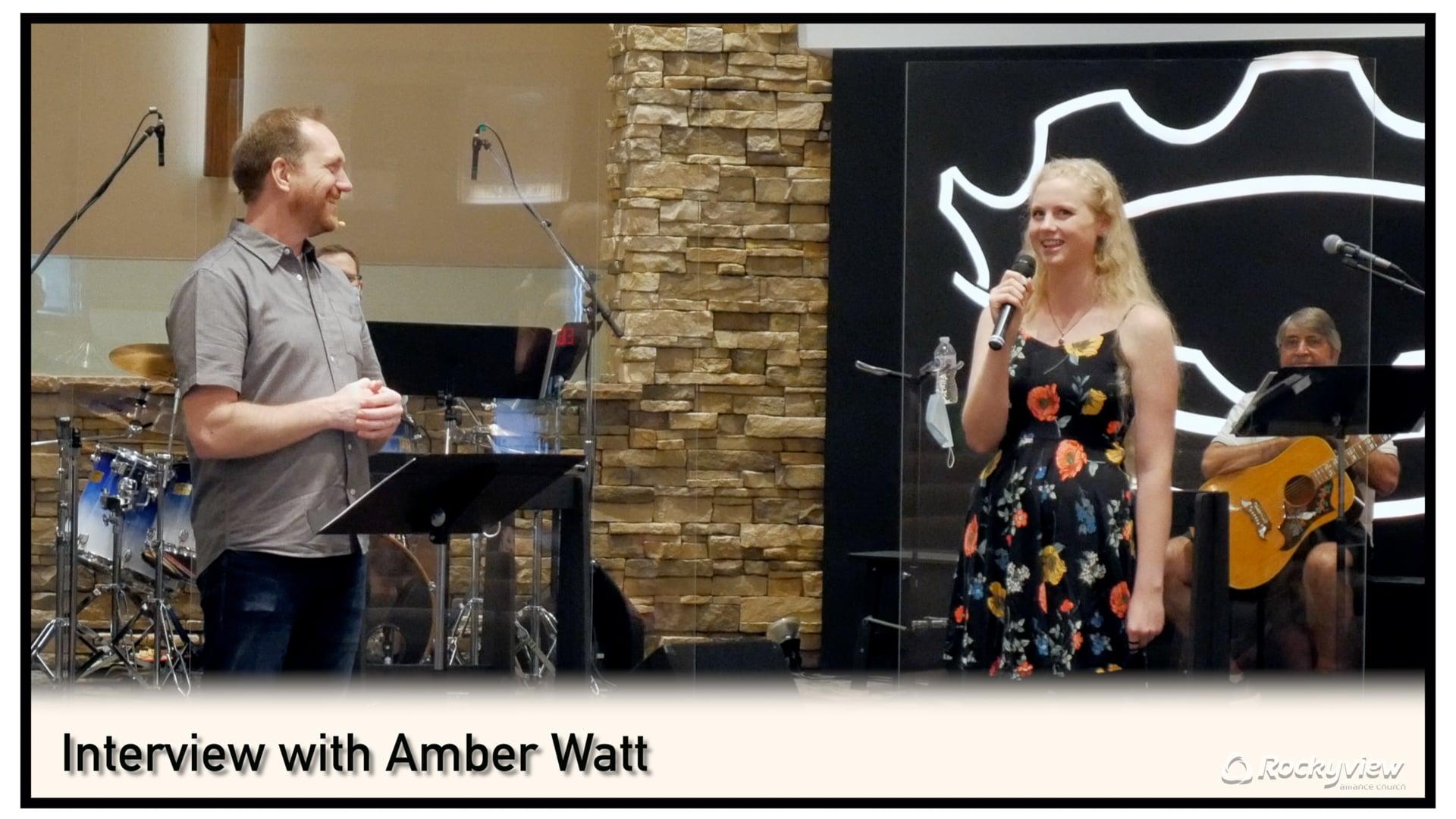 Pastor Scott Interview with Amber Watt