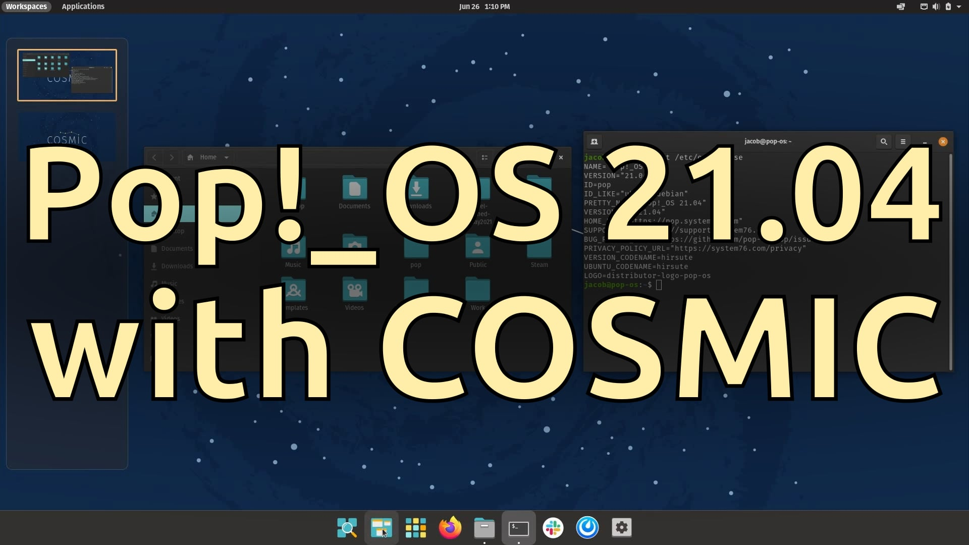 Pop!_OS 21.04 with COSMIC