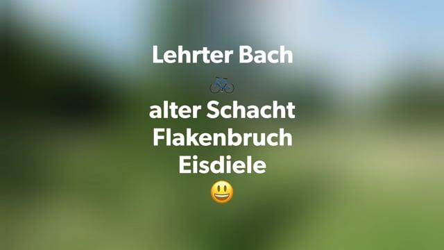 11-06-2021 Lehrte Bach-alter Schacht-Flakenbruch-Eisdiele.mov