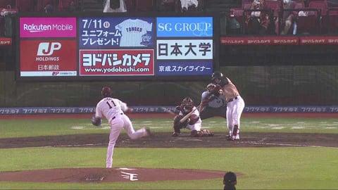 【3回表】ファイターズ・野村 2試合連続のタイムリーヒットで勝ち越し!! 2021/7/1 E-F