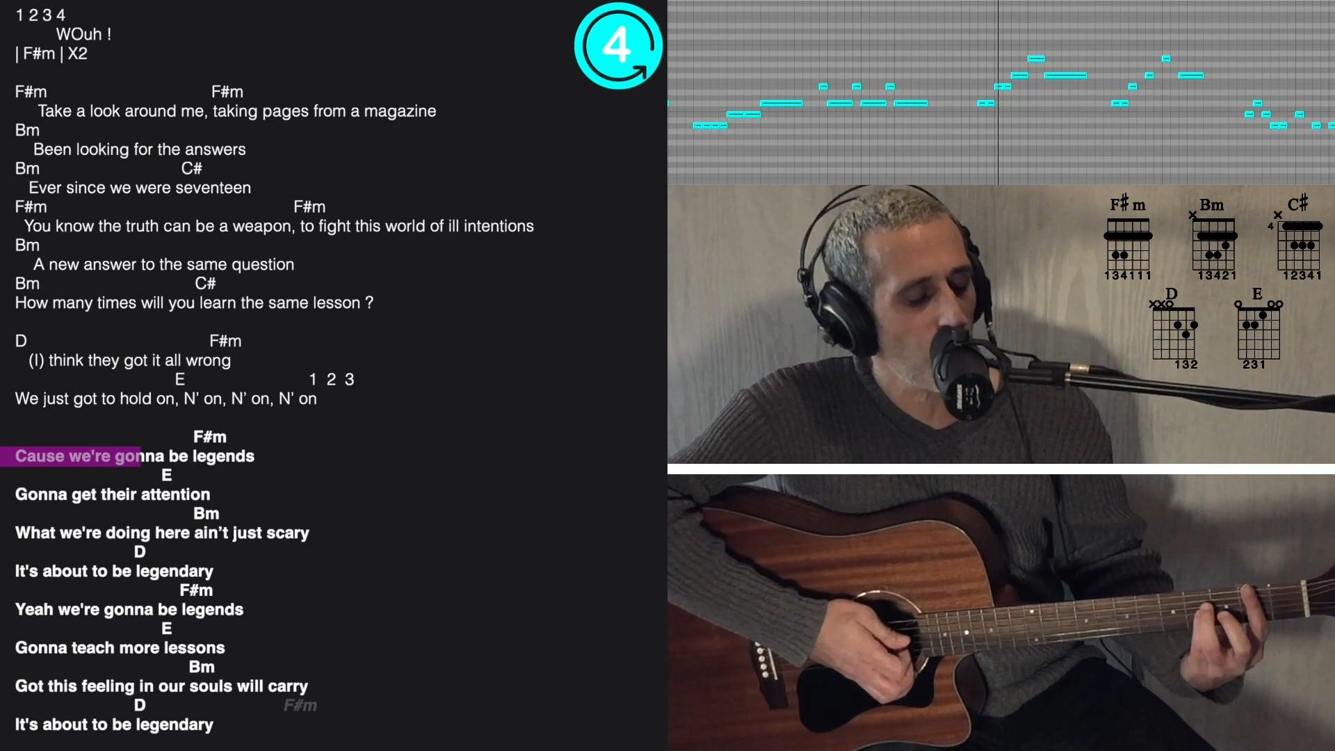 Legendary Chant Guitare EXTRAIT