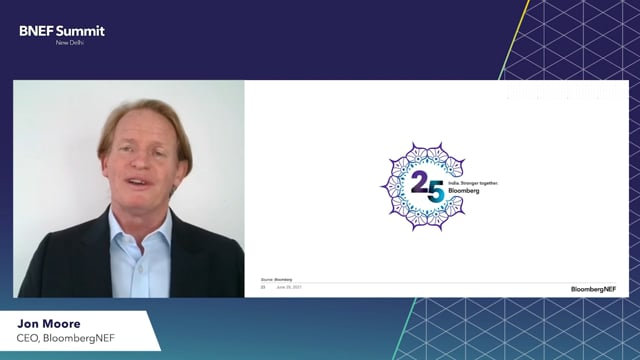 """Watch """"<h3>BNEF Talk: India, a Key Moment by Jon Moore, CEO, BloombergNEF</h3>"""""""