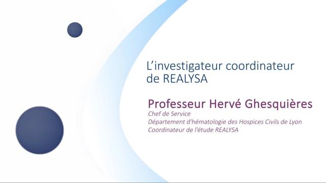 Miniature de la vidéo L'investigateur coordinateur de REALYSA