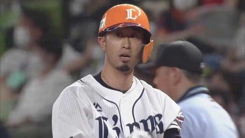 【8回裏】ライオンズ・外崎 復帰戦で技ありのヒットを放つ!! 2021/7/3 L-B