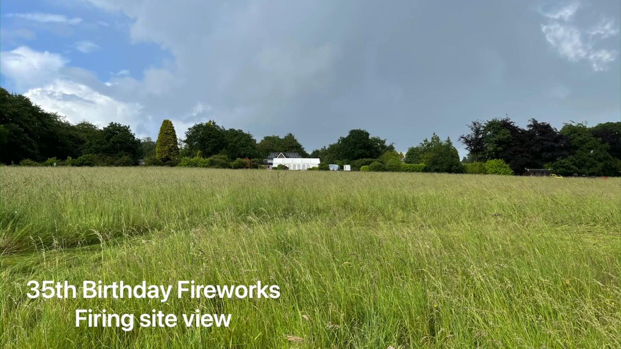 35th Birthday Fireworks Display