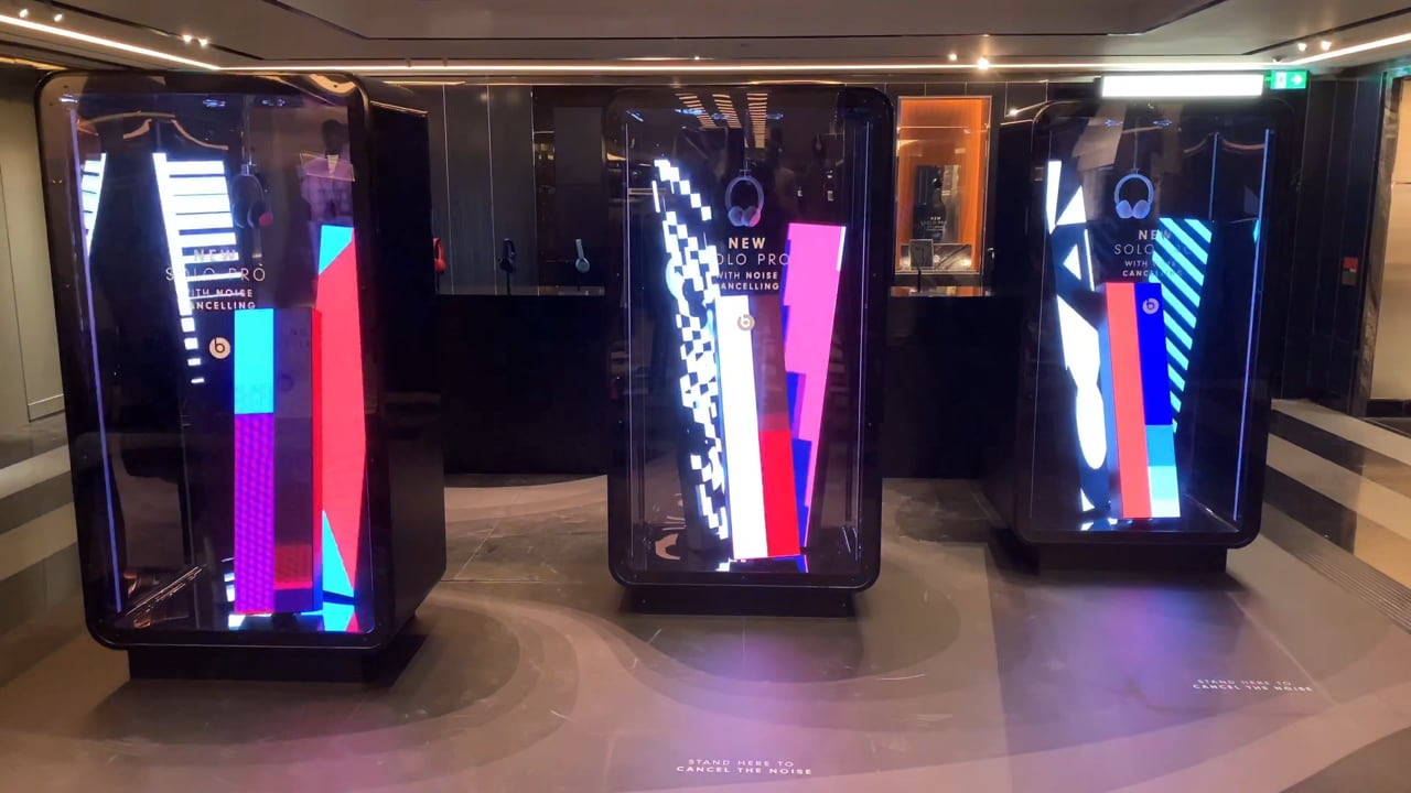 Interactive LED Tickers For Beats At Harrods