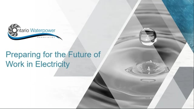Preparing for the Future of Work in Electricity Presented by Electricity Human Resources Canada