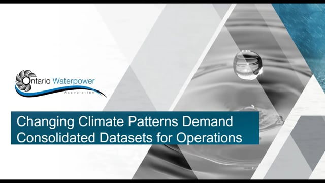 Changing Climate Patterns Demand Consolidated Datasets for Operations