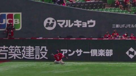 【3回表】ホークス・柳田がスライディングキャッチ!! 2021/7/10 H-B