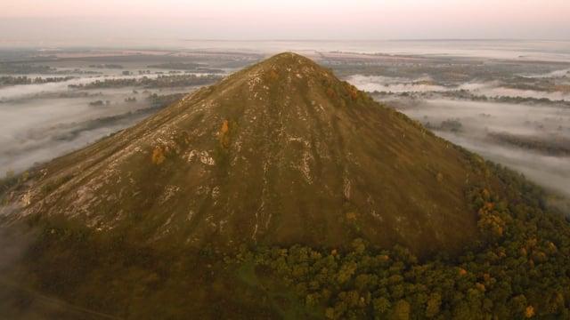 Shikhans in the Morning Mist - 4K Aerial Film