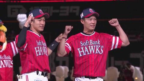 ホークス・岩嵜投手・柳田選手ヒーローインタビュー 7/11 H-B