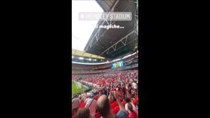Rovazzi a Wembley per Italia-Inghilterra tra i tifosi inglesi