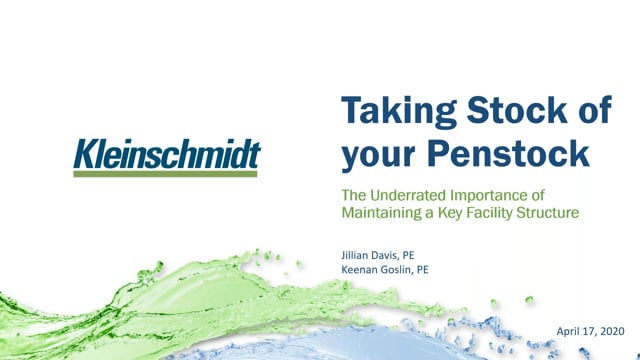 Kleinschmidt Webinar: Taking Stock of Your Penstock: The Underrated Importance of Maintaining a Key Facility Structure
